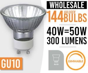 GU10 40/50W MAINS 240V HALOGEN Downlighter LAMP LIGHT BULB LOTS OF 12 TO 144