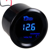 """2"""" 52mm Black Cover Car Universal Digital Blue LED Volt Voltage Gauge Meter V"""