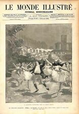Farandole fantastique Arènes d'Arles Opéra Ballet Théodore Dubois GRAVURE 1883