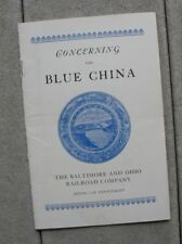 1933 Chicago World's Fair Baltimore & Ohio Railroad Blue China book