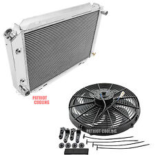 "1984-1992 Lincoln Mark VII 4 Row CHAMPION Aluminum Radiator & 16"" Fan DPI 138"