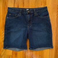 "Lee Riders Midrise Short Size 12M Women's Blue Jean Shorts Waist: 32"" Length: 18"