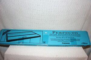 """Marineland Perfecto Glass Aquarium Canopy Fits ALL 30"""" X 12"""" Aquariums R01925"""