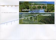 Croatia 2017 FDC Bridges & Viaducts 2v M/S Cover Architecture Tourism Stamps