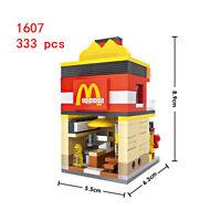 Baukästen Gebäude LOZ Mini Straßenansicht McDonald's Spielzeug Kinder Geschenk
