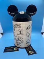 Disney's MICKEY MOUSE Sketch COOKIE JAR 90 Years Magic EXPERT CERAMICS SHIPPER!