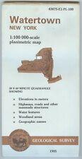 USGS Planimetric Map WATERTOWN- New York - 1985 - 100K -