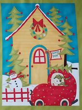Moda Merry & Bright Sandy Gervais Nort Pole Christmas Cotton Panel