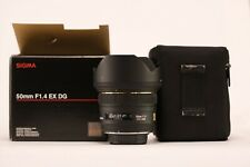 Sigma 50mm F1.4 EX DG HSM Lens Pentax PK Mount Mint Condition