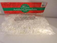 ARTIFICIAL SNOW FLAKES- 2 OUNCE PACKAGE- BRAND NEW- ON SALE- L85