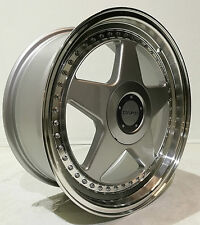 "17"" DARE DR F5  ALLOY WHEELS 5X100 TO FIT SEAT LEON VW GOLF MK4 & BORA DEEP DISH"