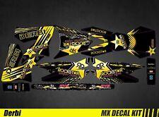 Kit Déco Moto / Mx Decal Kit Derbi 50 - Rockstar
