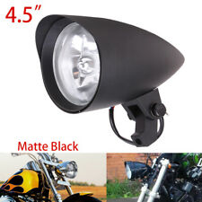 Black Bullet Headlight For Harley Sportster Dyna Softail FXR FXST Chopper Bobber