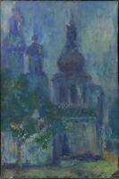 """Russischer Expressionist Öl Leinwand """"Nacht"""" 60x40 cm"""