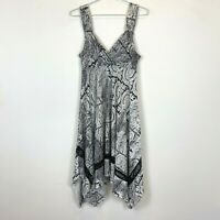 Caroline Morgan Womens Black/White Sleeveless Dress Size 10