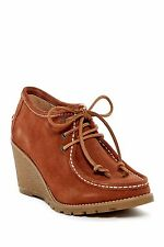 SPERRY TOP-SIDER Wedge Booties Stella Keel Boots Brown Suede Leather Shoes 7.5 M