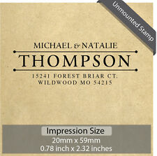 Unmounted Personalized Custom Name Returned Address Wedding Rubber Stamp RE719