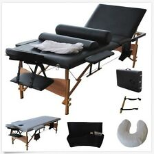 "New 84"" Long Black Portable Massage Table Facial Salon Spa Tattoo Bed Carry Case"
