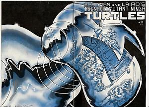 """TEENAGE MUTANT NINJA TURTLES """"MEGA RARE"""" #2 (1984) 1st PRINT MIRAGE STUDIOS TMNT"""
