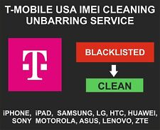 T-Mobile USA Unbarring, Cleaning Service, iPhone, Samsung, LG, Alcatel, Sony