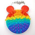 Push Bubble Fidget Sensory Popit Bag Toy Simple Dimple Purse Handbag Girls Gift