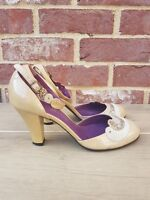 Authentic Marc Jacobs Beige Gold Mary Jane's 37.5 UK 4.5
