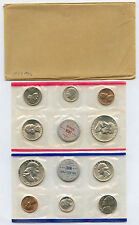 1959 US Mint Set Original Government  Envelope Cellophane and Packing Untoned