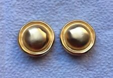 Vintage Signed GIVENCHY Gold Tone HAT DESIGNED Clip On Earrings