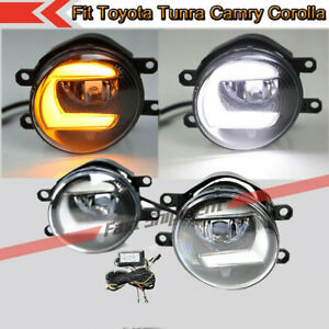 Fits Toyota Highlander Camry Corolla Front Bumper LED Fog Lights Lamps W/wiring