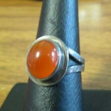silver ring with a carnelian stones size 7