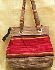 Purse or Tote Bag Ladies Southwest Mexican Style Vintage Serape Regular Red