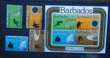 Barbados 1984 Olympic Games Los Angeles set & Miniature sheet Used