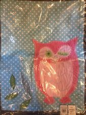 "Pottery Barn Kids Brooke Dot Decorative Sham 12 X 16"" Floral Owl New"