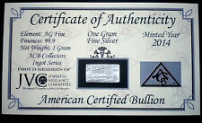 x20 ACB TITANIC ANNIVERSARY Limited Edition 999 Silver 1 Gram Bar with COA #