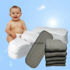 Washable Reusable Soft Cloth Diaper Inserts Microfiber /Bamboo Charcoal Fiber