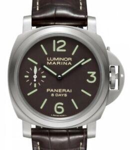 NEW Panerai Luminor Marina 44mm 8 Days Titanium Watch Box/Papers  Pam00564