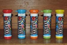 "2018 5-M&M's MINIS EMPTY 3-7/8"" STORAGE CANDY TUBES-RED BLUE ORANGE GREEN YELLOW"