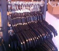 """Lot of 125 Black Plastic Adult Clothes Hangers 17"""" wide **FREE SHIPPING"""""""""""