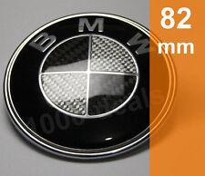 BMW Emblem Motorhaube Wappen Heckklappe 1er 3er 5er 6er 7er Carbon 82mm Schwarz