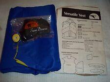Vtg Sewing Kit SUNDOWN VERSATILE VEST Blue/Yellow Ripstop Nylon Kit Child's 8-10