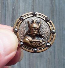 """Bouton ancien XIXe siècle, collection -""""Vercingétorix""""- Diamètre 2,7 cm - Bronze"""