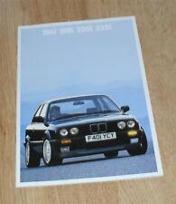 BMW 3 Series E30 Brochure 1988 - 316i 318i 320i 325i 2 & 4 door