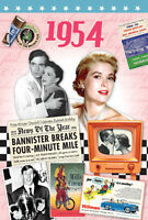 1954 BIRTHDAY GIFT - 1954 Time of  Life DVD and 1954 RetroYear Greeting Card - .