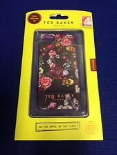 Ted London Baker iPhone 5 5S SE Silicone Case/Flowers In Black-New In Box