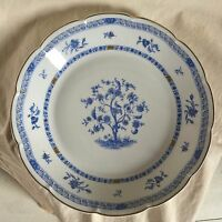"""ONE Haviland Limoges """"Arbre Bleu"""" round serving platter.13"""" d.  1958."""