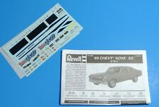 Revell 1969 Chevy Nova Special Edition SS 2n1 Decals & Instructions 1/25