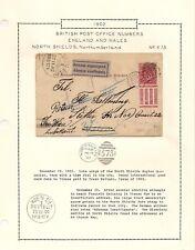 1902 UNDELIVERED POSTCARD NORTH SHIELDS VIENNA TIMED DATED DUPLEX POSTMARK 1573