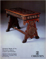 Catalogue vente Christie's European Works of art Decorative Objects Furniture