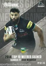 2015 NRL TRADERS PIECES OF THE PUZZLE JOSH MANSOUR PENRITH PANTHERS PP42 CARD