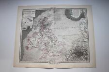 Carte de 1879, atlas Stieler,Gotha J. Perthes  British Inseln  N°45